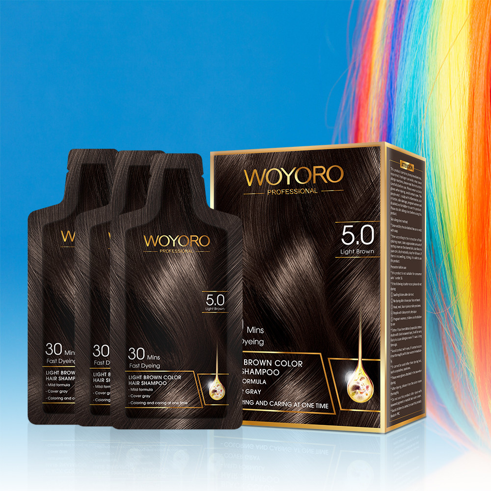 Black Permanent Dye Hair Color Shampoo  15ml Oxidant Quick