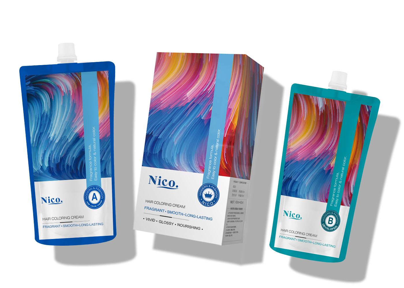 New Dye & Care Concept Professional Hair Color Cream