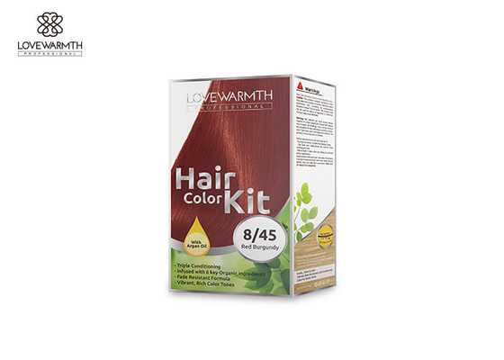 Low Ammonia Hair Color Kit For Family 13 Plants Extracts 60 Ml * 2 Volume
