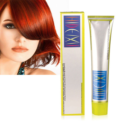 100ml No Ammonia Permanent Hair Color Cream Perfect Grey Coverage Hair Dye FDA Certification
